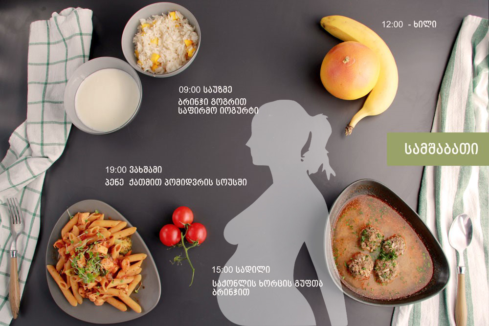 Mothers' Diet - 1800 kcal (1 Day) (ინებე | inebe)